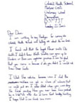 Coleshill heath letter